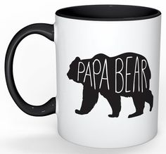 Papa Bear Mug, Dad Mug, Bear Mug, Gifts for Dad, Grandpa Gift, Mugs for Grandpa, Grandfather Gift, Mugs for Him, Fathers Day Gifts