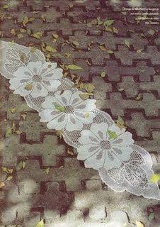 Receitas de Crochet: Caminho flor