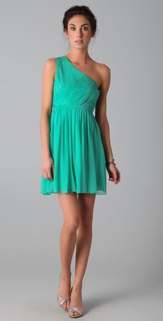 Tibi One Shoulder Dress.... just need 6-8 more inches in length!!