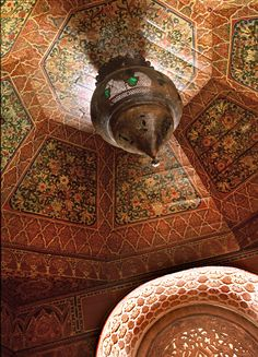 Painted ceiling in Morocco - La Sultana