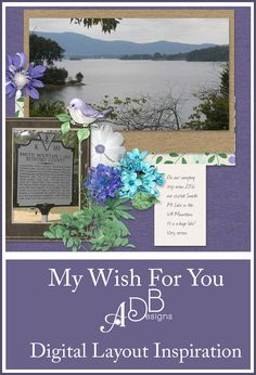 Sweet and romantic digital scrapbook collection: I Wish For You. A perfect little collection for scrapping family, children and even heritage photos.