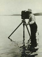 Photographer Edward Curtis and his camera. He recognized that the way of life for all Native Americans was disappearing and set about documenting them.