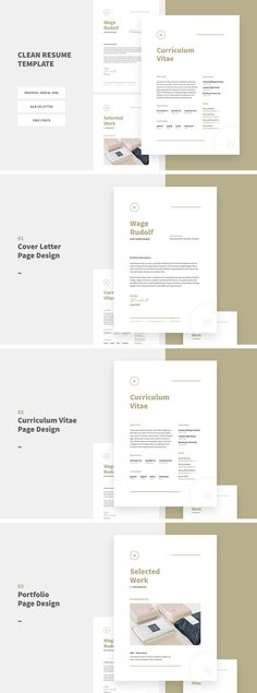 Resume Template  Resume Design Professional Cv  Cover Letter