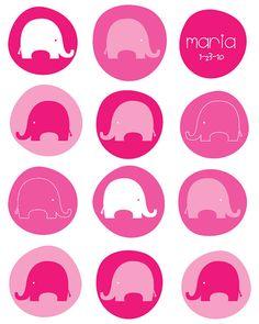 pinkhot pinkand white elephants