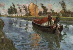 Frits Thaulow (1847 - 1906), Elvepram i fart