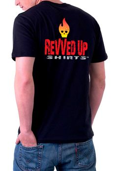Revved Up Firehead Muscle Car Shirt