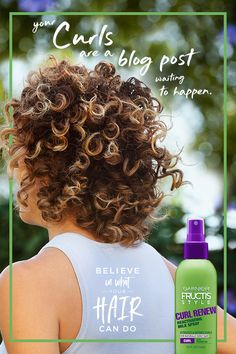 Girl, your curls are a blog post just waiting to happen. Garnier Fructis Style Curl Renew Reactivating Milk Spray hydrates and smooths strands to add body back to your curls. Use on damp hair after washing, or spritz on day two (or three) strands to get that curly bounce back! Learn more at GarnierUSA.com/Curls