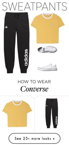 """Untitled #1716"" by vincentvangoth on Polyvore featuring adidas and Converse"