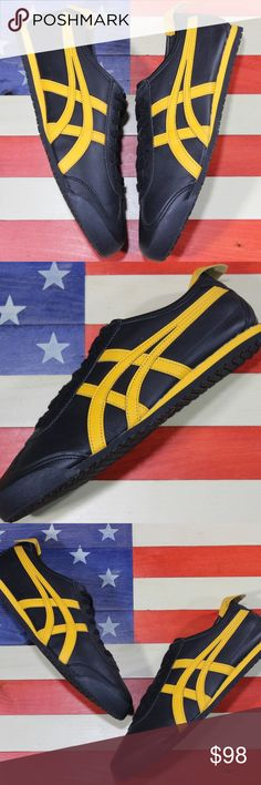 onitsuka tiger mexico 66 black and yellow 9s amazon yahoo