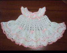 Baby Dress Crochet Flower Girl Outfit Crochet Dress by MyGiulietta