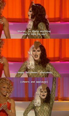 Sharon Needles , acceptance speech.