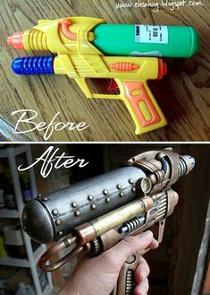 DIY Steampunk gun, go to her website for the awesome tute! SOOOO Easy!!!