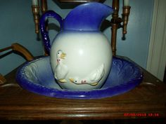 Antique/Vintage Large Pitcher and Wash Basin by Great1Treasure, $119.99