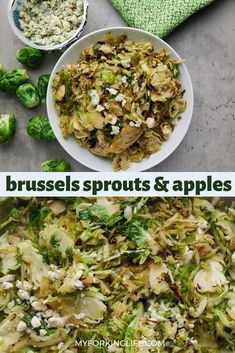 This easy and delicious recipe belongs on your Holiday table. Sauteed brussels paired with delicious tart apples make the perfect combo. Topped with yummy blue cheese to round out the flavors. Instant Pot Pressure Cooker, Pressure Cooker Recipes, Shredded Brussel Sprouts, Cooked Apples, Sunday Suppers, Thanksgiving Side Dishes, Easy Weeknight Meals, Vegetable Side Dishes, Blue Cheese
