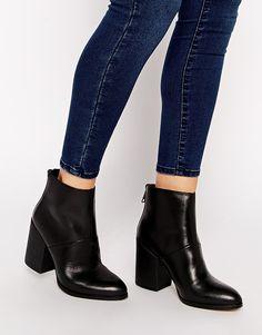 ALDO Gabba Zip Back Block Heeled Ankle Boots