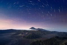 Stars Over The Volcanos, #Landscapes & #Scenery, #Mountain, #Plants & #Nature