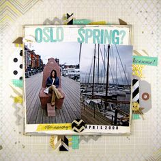 NSD: Oslo in Spring?leija at Studio Calico Travel Scrapbook, Scrapbook Pages, Scrapbook Layouts, Studio Calico, Oslo, Scrapbooks, Memories, Gallery, Spring