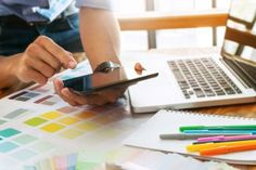Ingimage | Stock Image Details: ISS_17456_00200 - Creative businessman using tablet and working on colour charts on desk at a modern office Royalty Free Images, Charts, Commercial, Desk, Colour, Stock Photos, Detail, Creative, Modern