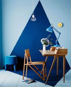 Trendy home office design ideas workspaces lamps ideas Home Office Design, Home Office Decor, Office Designs, Office Ideas, Office Furniture, Furniture Ideas, Wall Design, House Design, Creative Wall Painting
