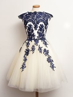 Gorgeous Blue & White Tulle Dress