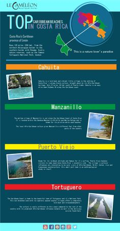 We hope you enjoy our new #infographic ! A good graphic idea: Top Caribbean Beaches in #CostaRica