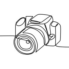 Dslr Camera Digital Vector With One Continuous Single Line Drawing Minimal Art Style – Nature Ambience – technologie Single Line Drawing, Continuous Line Drawing, Line Drawing Art, Minimalist Drawing, Minimalist Art, Rose Line Art, Art Sketches, Art Drawings, Music Drawings