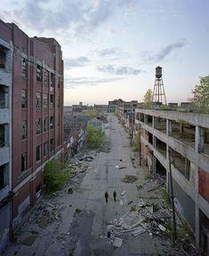 32 photos de Detroit, une ville en faillite qui se transforme en ruines