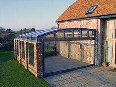 garage look of terrace enclosure CORSO