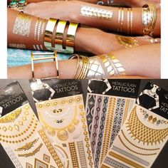 Flash tattoos Seven packages of flash tattoos in four different styles as pictured above. Sold together but if you want individually message me. Never opened. Great as a bachelorette party gag gift or for vacation or even your next music festival! Accessories
