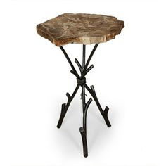 Petrified Wood Table - Dot & Bo