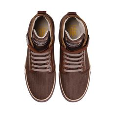 Brown MEDIO #chocolate high tops #kicks shoes fashion casual #sneakers