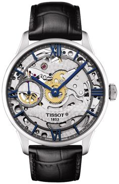 The Tissot Chemin des Tourelles Skeleton takes its name from the place in which it was created. Chemin des Tourelles is the street on which the Tissot factory was built in 1907 and where the company still remains today. This watch takes pride in its origins and reflects more than 160 years of expertise. The art of watchmaking is clearly visible through its dial thanks to its skeletonised movement.The beauty lies in the revelation of its works, with further rich details demonstrating its…