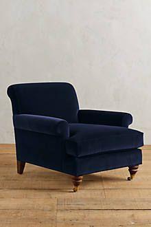 Velvet Willoughby Chair, Wilcox - anthropologie.com