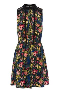 ST GERMAIN LACE TRIM DRESS | Multi | Oasis Stores