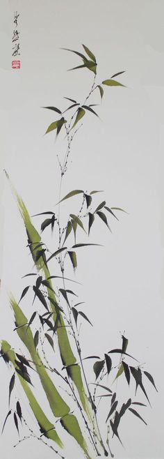 Opere di Beppe Mokuza – Sumi-e Japanese Painting, Chinese Painting, Japanese Watercolor, Botanical Art, Botanical Illustration, Pintura Zen, Sumi E Painting, Chinese Artwork, Art Asiatique