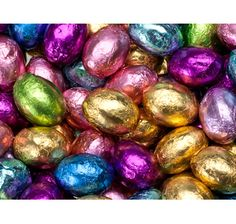 Foil wrapped easter eggs!