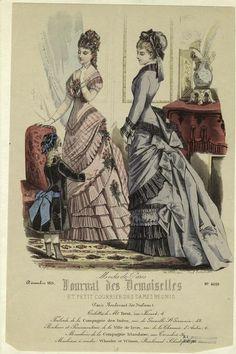 Modes de Paris, Journal des Demoiselles et Petit Courrier des Dames, December 1875.