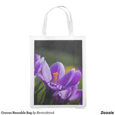 Shop Crocus Reusable Bag created by Personalize it with photos & text or purchase as is! Grocery Bags, Reusable Bags, Tote Bag, Carry Bag, Produce Bags, Tote Bags, Shopping Bags