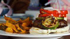 "Balsamic Grilled Portobello Mushroom ""burgers"""