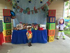 Toy story inspired candy table