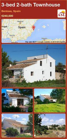 3-bed 2-bath Townhouse in Benissa, Spain ►€240,000 #PropertyForSaleInSpain