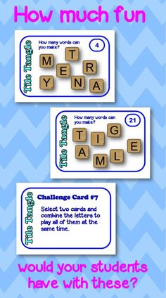 Great word work center activity, or use for morning work. Lots of fun ways to use these cards!