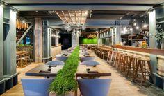 Интерьер ресторана с элементами фитодизайна, Лондон