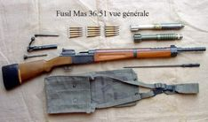 grenadekit Ww2 Weapons, Steampunk Weapons, Military Weapons, Survival Rifle, Sniper Training, Indochine, Bolt Action Rifle, French History, Apocalypse Survival