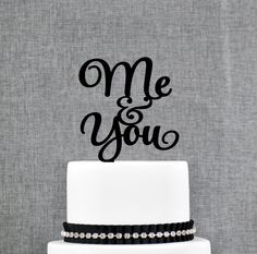 New to ChicagoFactory on Etsy: Me and You Wedding Cake Topper love song cake toppers country songs wedding cake toppers by Chicago Factory (S195) (15.00 USD)