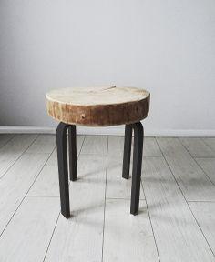 WOOD SLICE STOOL/TABLE  von Kolorum auf DaWanda.com