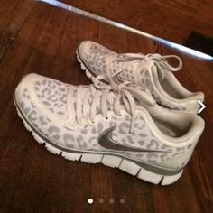 Rare snow leopard Nike This leopard print is NOT available anymore on any website. Price reflects this so please no nasty comments. Selling on Ⓜ️erc Nike Shoes Athletic Shoes