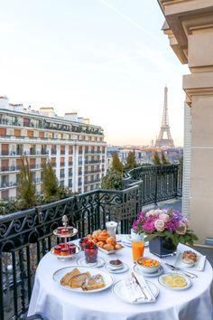 breakfast on the balcony