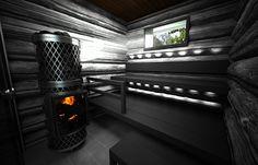 Log-laudepaketti | Sun Sauna Kotikylpylä. Nice neutral white lighting