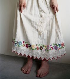 from embroidered tablecloth?